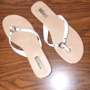 ALDO White Flip Flops